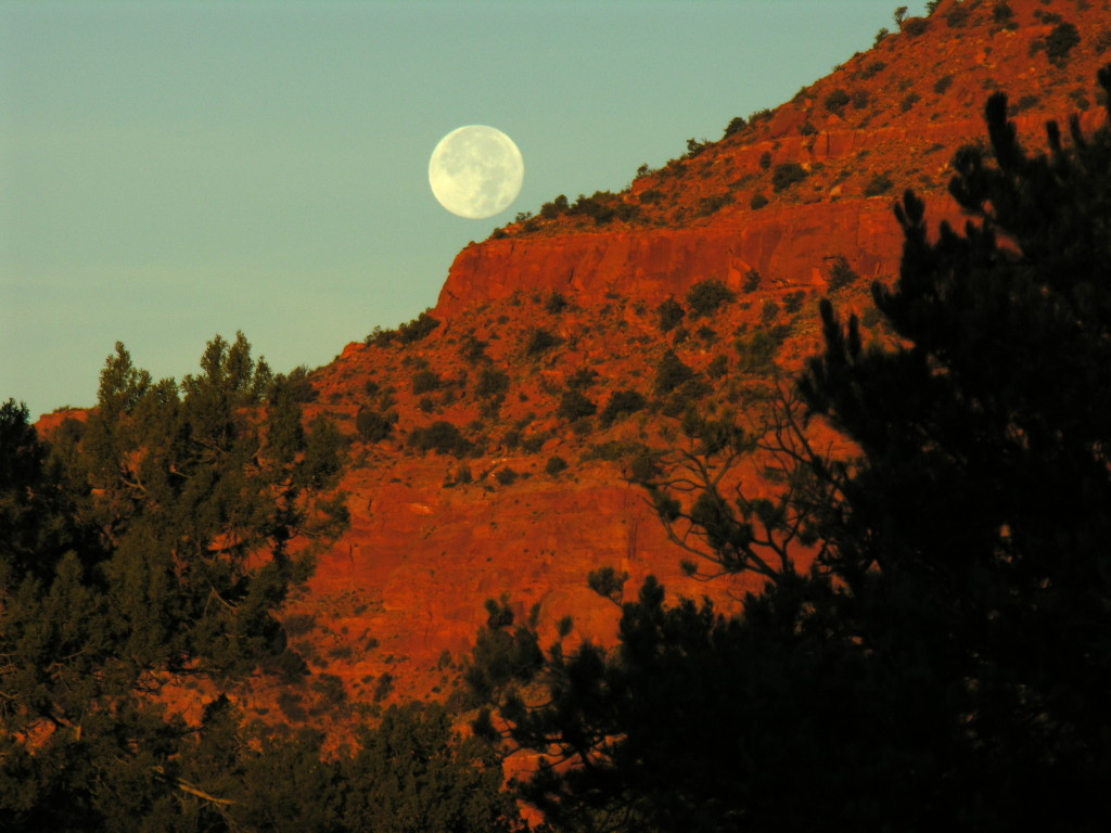 Moonset over Vermillion Cliffs